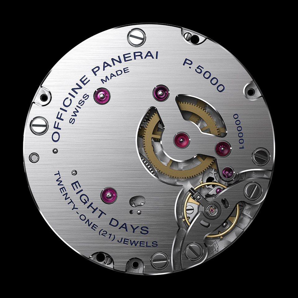 Panerai kalibar p.5000 satni mehanizam
